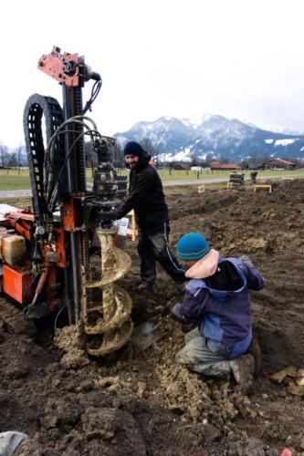 Aufbau unserer eigenen Gärtnerei in Lenggries – März 2018